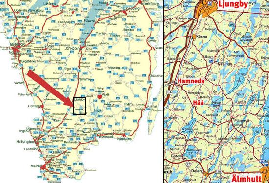 kort over småland